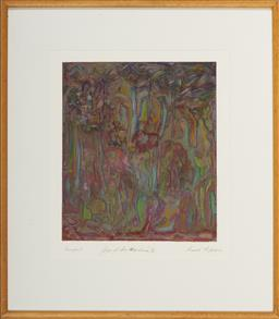 Sale 9101 - Lot 2003 - Maadi Enfield (1923 - ) Joys of Snorkelling Series X, 1987 monoprint frame: 50 x 58 cm, signed and dated -