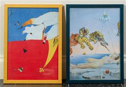 Sale 9165H - Lot 67 - A Salvador Dali print Gala together with another. Frame size 46x33.5cm