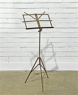 Sale 9188 - Lot 1340 - An early Folding Music Stand (h109 x d48cm) -