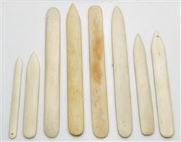 Sale 9190 - Lot 66 - A collection of bone page turners