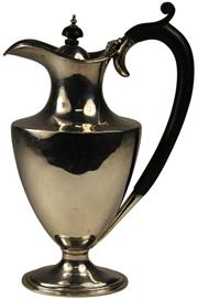 Sale 8008 - Lot 35 - English Hallmarked Sterling Silver Hot Water Jug