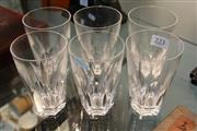 Sale 8362 - Lot 223 - Waterford Crystal Set of 6 Water Glasses