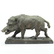 Sale 8413 - Lot 20 - Bronze Figure of a Wild Boar After Fritz Diller
