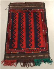 Sale 8445K - Lot 30 - Afghan Tribal Torbah Bag , 101x68cm, Handwoven by desert nomads in the northern mountainous regions of Afghanistan. All wool heavy d...