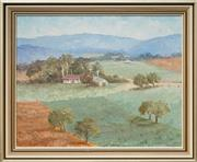 Sale 8506 - Lot 2008 - Lena Pilkington - Landscape at Tarlee 39 x 49cm