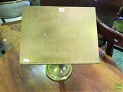 Sale 8539 - Lot 1067 - Antique Brass Book Lectern, with scalloped rest & turned stand