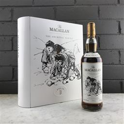Sale 9120W - Lot 1403 - The Macallan Distillers 'The Archival Series - Folio 3' Highland Single Malt Scotch Whisky - 43% ABV, 700ml in book-form tin box wit.