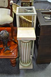 Sale 8129 - Lot 1054 - Pedestal And a Plant Stand