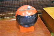 Sale 8275 - Lot 1030 - Vintage JVC Helmet Television on Stand