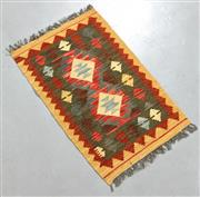 Sale 8445K - Lot 31 - Summer Afghan Tribal Kilim Rug , 81x51cm, Finely handwoven in Northern Afghanistan using high quality local wool. Vibrant summer col...