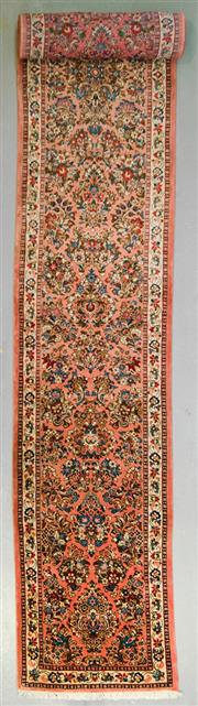 Sale 8539C - Lot 14 - Persian Husinabad Runner 630cm x 80cm