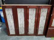 Sale 8625 - Lot 1001 - Vintage Timber Bay of Four Lockers -