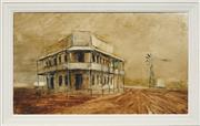 Sale 8716 - Lot 2072 - Kevin Oxley (1941 - ) - Outback Hotel, 1970 37 x 62.5cm