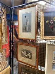 """Sale 8910 - Lot 2021 - A 1898 Vanity Fair chromolithograph """"Hampshire."""" [Captain Edward Wynyard] together with an 1888 hand-coloured Engraving The Austr..."""