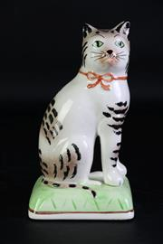 Sale 8923B - Lot 80 - A Staffordshire cat. Height 20cm