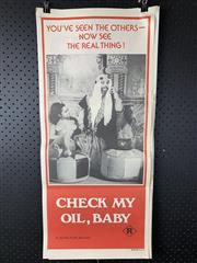 Sale 9003P - Lot 69 - Vintage Movie Poster - Check My oil Baby