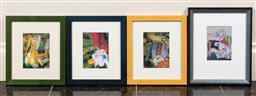 Sale 9165H - Lot 133 - A group of four Picasso prints Largest frame size 28x23cm