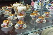 Sale 8022 - Lot 32 - Aynsley Hand Coloured Floral Coffee Set by Bailey