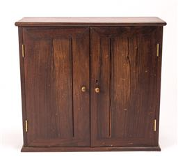 Sale 8651A - Lot 66 - A well fitted Rosewood specimen cabinet, height 43, width 47cm