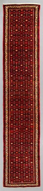 Sale 8539C - Lot 15 - Persian Husinabad Runner 400cm x 80cm