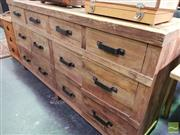Sale 8566 - Lot 1599 - Recycled Elm Industrial Sideboard with 4 Doors and 4 Drawers