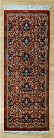 Sale 8585C - Lot 28 - Super Fine Persian Qum Pure Silk With Signature 213cm x 75cm