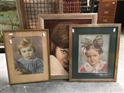 Sale 8720 - Lot 2048 - Group of (3) Portraits by Various Artists