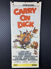 Sale 9003P - Lot 70 - Vintage Movie Poster - Carry on Dick starring Sidney James, Barbara Windsor and Kenneth Williams