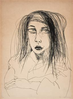 Sale 9244 - Lot 541 - BRETT WHITELEY (1939 - 1992) Kerry etching ed. 9/30 63.5 x 47 cm (frame: 94 x 74 x 3 cm) signed lower right