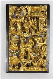 Sale 8384 - Lot 36 - Chinese Gilt Carved Panel