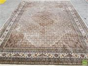 Sale 8428 - Lot 1072 - Fine Indian Tabriz Wool Carpet, possibly with silk inlays, with central medallion & herati pattern (400 x 300cm)