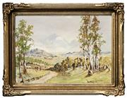 Sale 8522 - Lot 2024 - Ray Maskell - Yelgun, Northern New South Wales, 1960 29.5 x 42.5cm