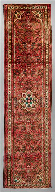 Sale 8539C - Lot 16 - Persian Husinabad Runner 283cm x 78cm