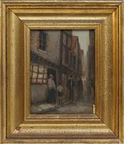 Sale 8716 - Lot 2058 - A P Thomas - Paris Street Scene 18 x 14cm