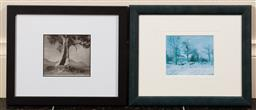 Sale 9165H - Lot 38 - A Harold Cazneaux framed photographic print of the spirit of endurance, together with a Pissarro framed print of Piettes house. Fram..