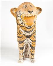 Sale 8342A - Lot 320 - A life size composite figure of a tiger, showing age, H 88cm
