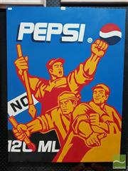 Sale 8478 - Lot 2030 - After Chinese Contemporary School Pepsi (Socialist Scene), acrylic on canvas, 70 x 60cm, unsigned.
