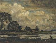 Sale 8773 - Lot 611 - David Muirhead (1867 - 1930) - On the Ouse 34.4 x 44.5cm
