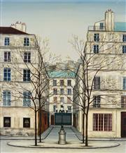 Sale 8791 - Lot 599 - Artist Unknown - Untitled (Paris Street Scene) 53 x 45.5cm