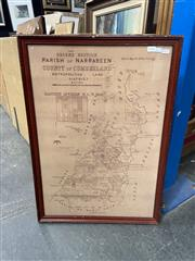 Sale 9016 - Lot 2054 - Framed Sketch Map of Parish of Narrabeen, Country of Cumberland, 2nd edition N846a, 73 x 52cm (frame)