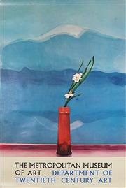 Sale 9078A - Lot 5001 - David Hockney (1937 - ) - Mount Fugi & Flowers (Exhibition Poster for the Metropolitan Museum of Art) 91.5 x 61.5 cm (sheet)