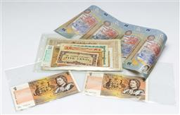 Sale 9164 - Lot 417 - Collection of world banknotes incl consecutive $1 notes and uncut Samoan sheet