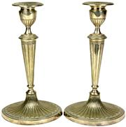 Sale 8065 - Lot 15 - Elkington Silver Plated Pair of Candlesticks