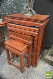 Sale 8418 - Lot 1010 - Nest of Oriental Tables