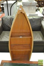 Sale 8431 - Lot 1093 - Boat Form Bookcase