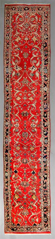 Sale 8539C - Lot 17 - Persian Kashan Runner 422cm x 80cm