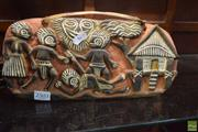 Sale 8563T - Lot 2503 - Tribal, Carved, Wooden Storyboard