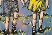 Sale 8609A - Lot 5004 - David Bromley (1960 - ) - Holding Hands 76 x 112cm