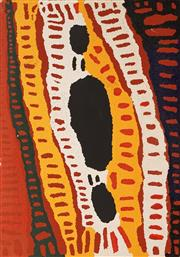 Sale 8647 - Lot 537 - Lucy Napanangka (1934 - 2003) - Untitled, 2002 119.5 x 84cm (stretched/framed and ready to hang)