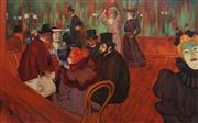 Sale 8781 - Lot 569 - DArcy W Doyle (1932 - 2001) - At the Moulin Rouge (after Toulouse Lautrec) 75 x 121cm